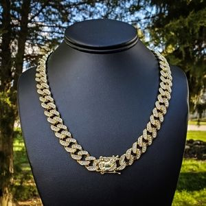 "20"" iced out Hip hop Cuban Chain"